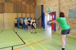 AOK Grundschul-Aktionstag Urbanschule Korb und SC Korb Abt. Volleyball