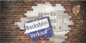 Backstein Verkauf – jede Spende hilft!
